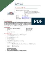 Dr. AG Pandit CV