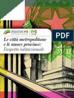 Le Città Metropolitane e Le Nuove Province - l'Aspetto Istituzionale