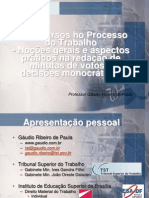 00 - TST - Recursos Trabalhistas - Introducao