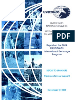 USICOMOS IEP 2014 Report to Sponsors