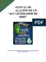Manual dinstalacion de sistema HHOe Instalacion Hho