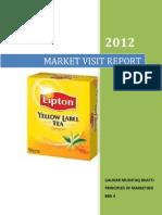 Market Visit Report