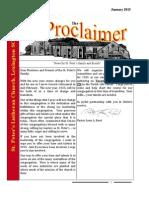 January 2015 Proclaimer