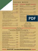Numero Uno Pizza Pasadena Catering Menu