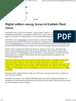 Digital Soldiers Emerge Heroes in Kashmir Flood Rescue - Hindustan Times
