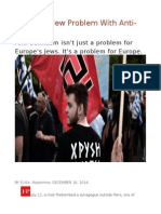 Europe's New Problem With Anti-Semitism