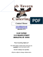 Club Tavern Catering