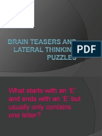 Brain Teasers and Lateral Thinking Puzzles - Copy
