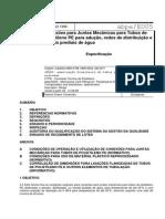 ABPE E005-1998 - Conexões Para Juntas Mecânicas Para Tubos de Polietileno PE... - Especificação