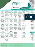 2015 Career Week Schedule