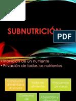 Subnutrición