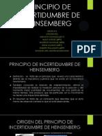 Principio de Incertidumbre de Heinsemberg