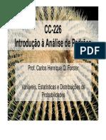 Aula02-Estatisticas Distribuicoes de Probabilidades