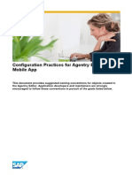 Configuration Practices for Agentry Based Mobile Application