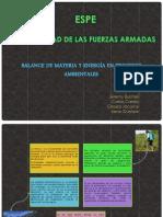 Balance de Materia y Energía en Procesos Ambientales