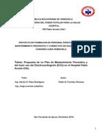 MANTINIMIENTO DE EQUIPOS DE SALUD