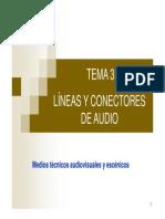 Líneas y Conectores de Audio