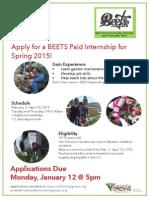 Spring 2015 BEETS Internship Flyer Press Quality