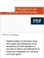 Strategic Management and Organizational Effectiveness