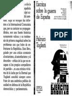 Togliatti Escritos sobre laGuerra de España