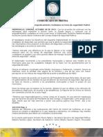 28-10-2013 El Gobernador Guillermo Padrés encabezó la Décimo Quinta Sesión Ordinaria del Consejo Estatal de Seguridad Pública. B1013150