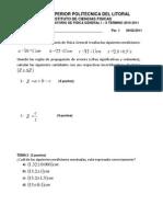 Examen 1 Laboratorio de Fisica