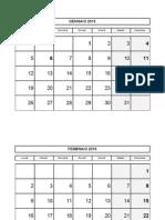 Calendario Mensile 2015 basic