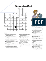 Restaurant Crossword