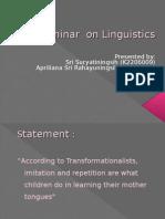 Seminar on Linguistics