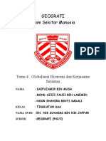 Koleksi Soalan Contoh Geografi STPM Tema 4 Globalisasi Ekonomi Dan Kerjasama Serantau