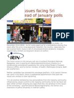 Burning Issues Facing Sri Lanka Ahead of January Polls