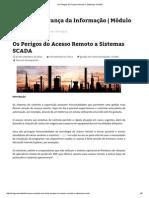 Os Perigos Do Acesso Remoto a Sistemas SCADA