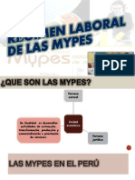 Regimen Laboral de Las Mypes