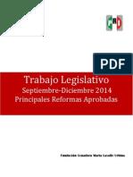 Principales Reformas Aprobadas - SEP a DIC 2014