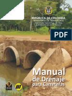 Manual Drenaje para obras de infraestructura vial
