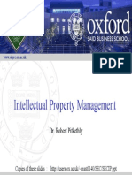 Intellectual Property Management - Oxford Bussiness School