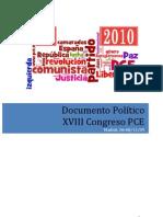 XVIII Congreso del PCE - Documentos aprobados - Tesis Políticas