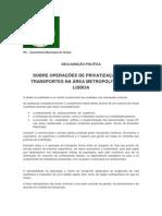 Declaração Política - Transportes - PS