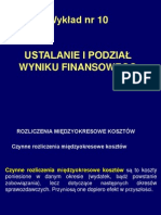 Temat 10 Ustalanie i Podział Wyniku Finansowego