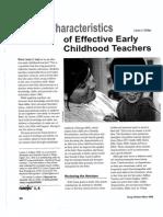 12 characteristics of effective teachers