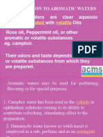 Aromatic Water Ppt