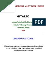 Kuliah 2 Sterilisasi Medium 2014