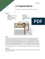 LAB 1-Projectile Motion