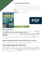 1 - Como Estudar Para o Concurso Do INSS 2014