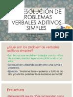 La Resolución de Problemas Verbales Aditivos Simples (1)
