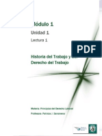 Lectura 1 - Historia Del Trabajo y Del Derecho Del Trabajo