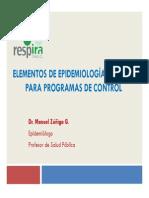 01. M Zúñiga - Epidemiología General Aplicada a Las Enfermedades Respiratorias 2014