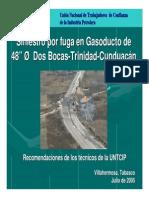 recomendaciones gasoducto