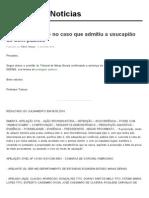 Decisão do TJMG no caso que admitiu a usucapião de bem público | Notícias JusBrasil