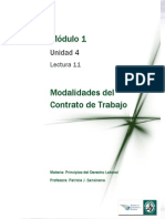 Lectura 11 - Modalidades Del Contrato de Trabajo. Pasantías
